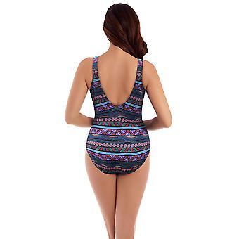 Miraclesuit 6511618 Women's Caravan Odyssey Blue Print Shaping Swimsuit