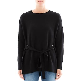 Theory women's H0618713001 black cashmere blouse