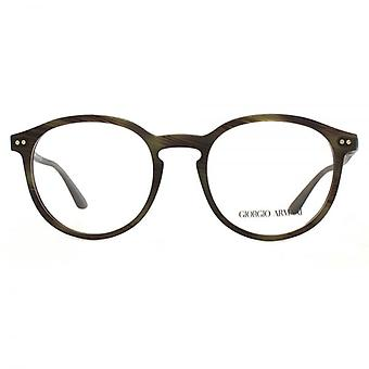 Giorgio Armani AR7121 Glasses In Matte Striped Olive