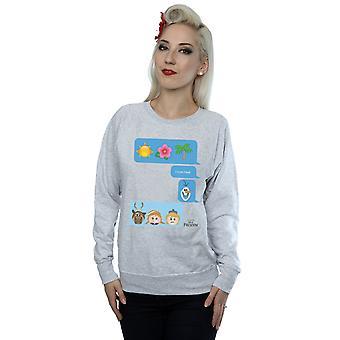 Disney Frauen ist ich liebe Hitze Emoji Sweatshirt gefroren