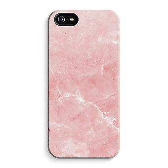 iPhone 5C Full Print Case - Pink Marble