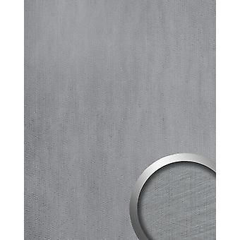 Wall Panel metal optics WallFace 20193 METALLIC USED silver AR wall tiling in the used look and with metallic accents adhesive abrasion resistant silver light grey 2.6 m2