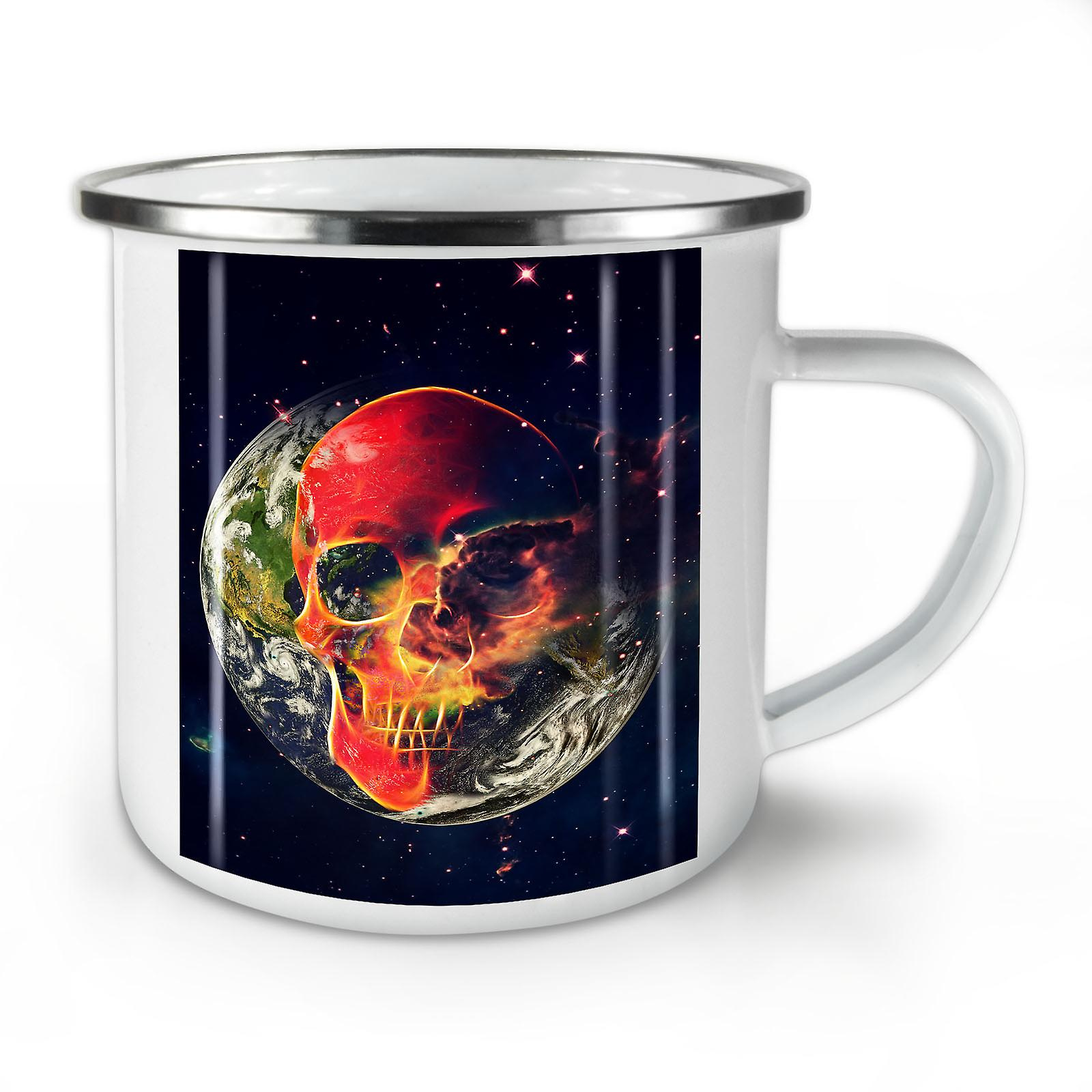 Mug10 Terre Whitetea Café Planète OzWellcoda Crâne Nouvelle Émail xhsQdtrC