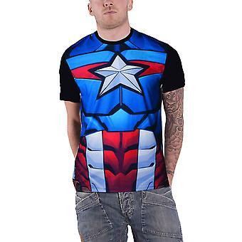 Captain America T Shirt Captain America costume Official Marvel Sub Dye print