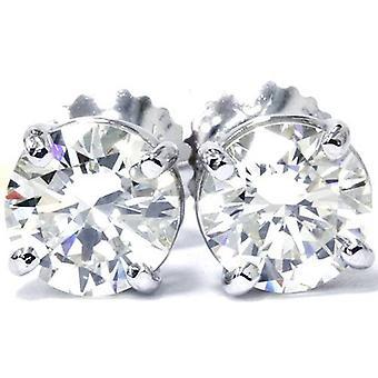 1 / 2ct Diamond hengsten 14K White Gold