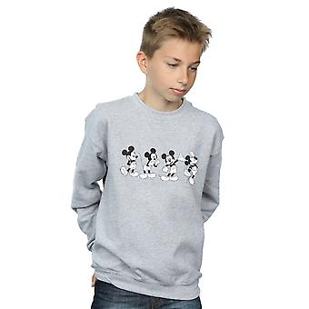Disney Boys Mickey Mouse Four Emotions Sweatshirt