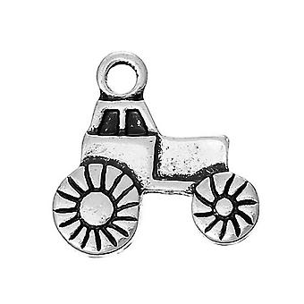 Packet 3 x Antique Silver Tibetan 16mm Tractor Charm/Pendant ZX12335