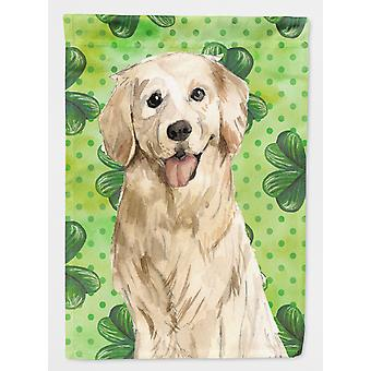 Carolines Treasures  CK1804GF Shamrocks Golden Retriever Flag Garden Size