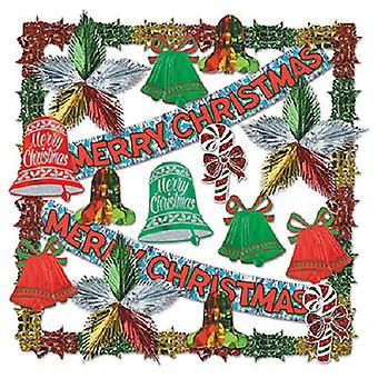 Merry Christmas Metallic Dec Kit-20 Pcs