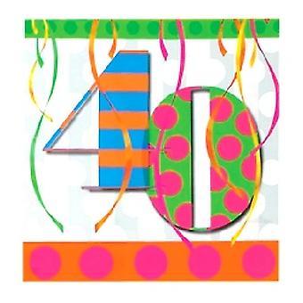 40 ballong ljusa Birthday Party servetter