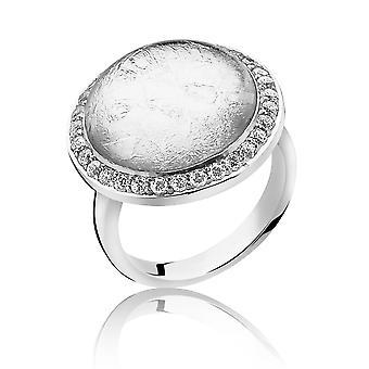 Orphelia Silver 925 Ring Glass Silver Sheet  Zirconium   ZR-3901/2