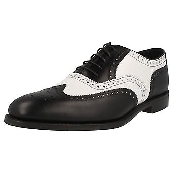Mens Loake Classic Two Tone Brogue Lace Up Shoes - Sloane