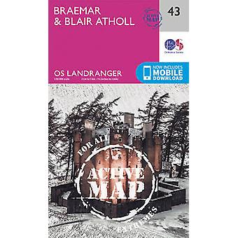 Braemar  Blair Atholl by Ordnance Survey