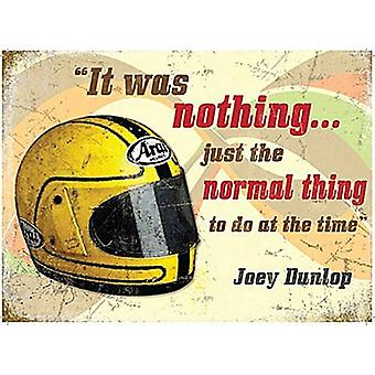 Joey Dunlop Helmet / Quote Small Metal Sign 200Mm X 150Mm