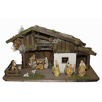 James Wood wieg Nativity kerst geboorte stabiel voederbak