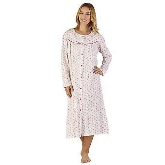 Slenderella ND2113 Frauen Boden Jersey Floral Night Gown Loungewear Nachthemd