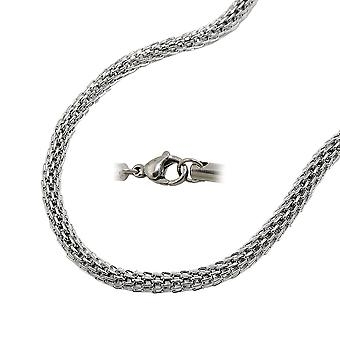 Mesh stainless steel chain link necklace