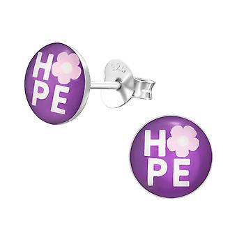 Hope - 925 Sterling Silver Colourful Ear Studs
