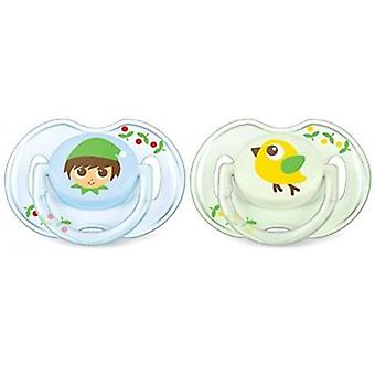 Avent Silicone Pacifiers Classics 0 to 6 Months 2 uds