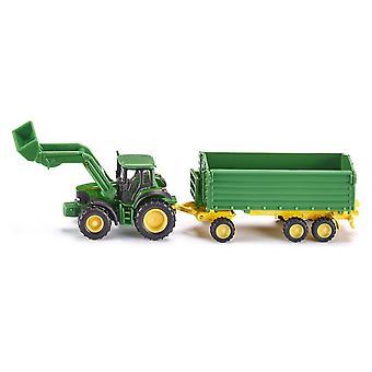 SIKU John Deere traktor/lastare & Trailer skala 1: 87