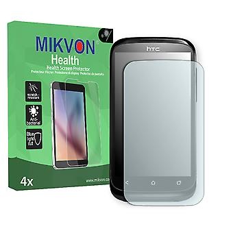 HTC T328e Screen Protector - Mikvon Health (Retail Package with accessories) (intentionally smaller than the display due to its curved surface)