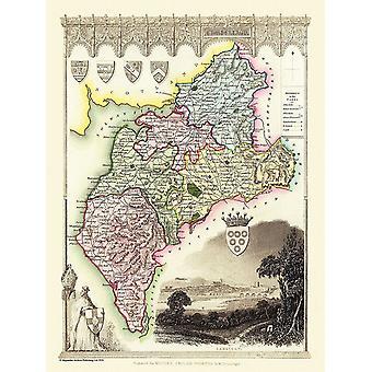Карта Камберленд (графства) 1836, Томас Moule 1000 кусок головоломки (jhg)