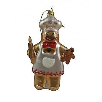 Glass Gingerbread Man Collectable, Gisela Graham Christmas Range