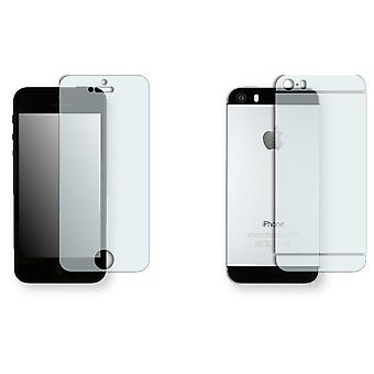 Apple iPhone 5S screen protector - Golebo crystal-clear protector (1 front / 1 rear)