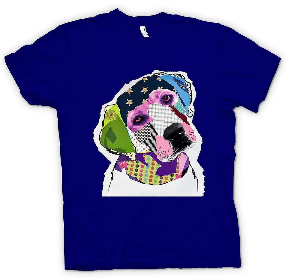 Herr T-shirt - Labrador - Cool - Pop Art - klipp ut