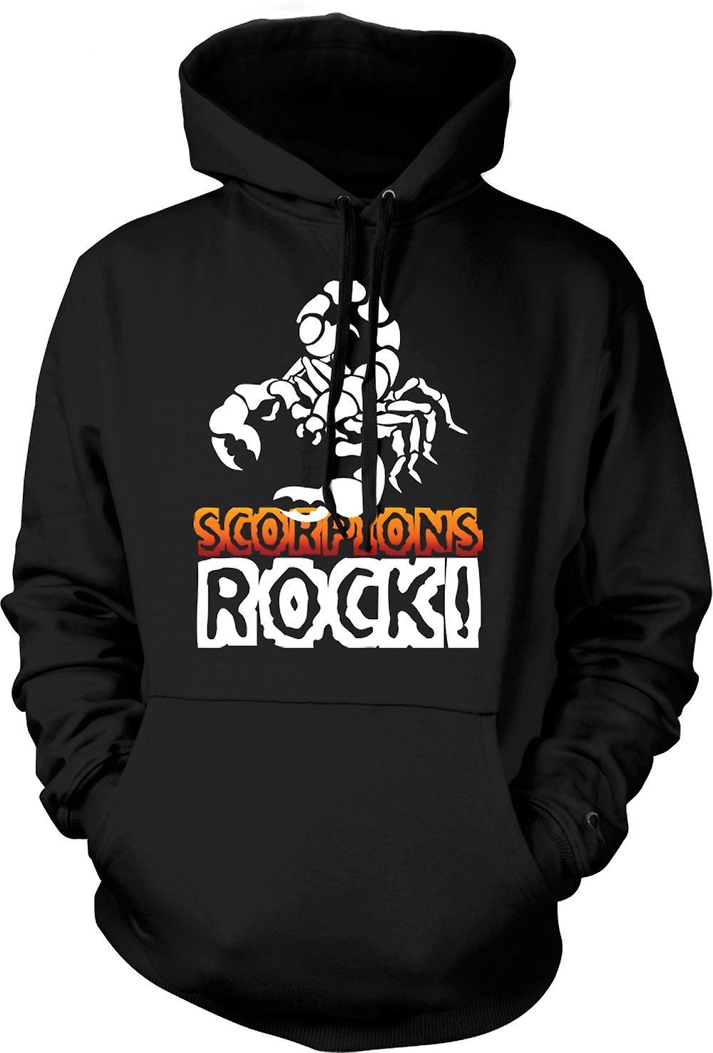 Mens Hoodie - Scorpions-Rock
