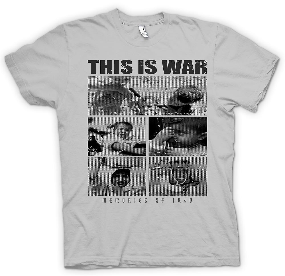 Camiseta para hombre - esto es guerra - recuerdos de Irak