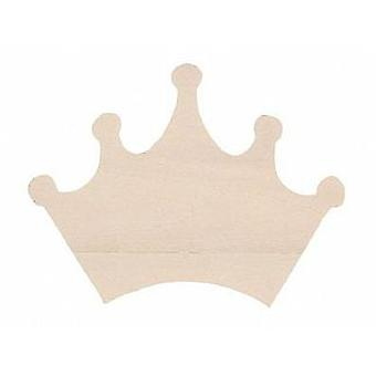 11cm Flat Wooden Crown Shape to Decorate | Wooden Shapes for Crafts