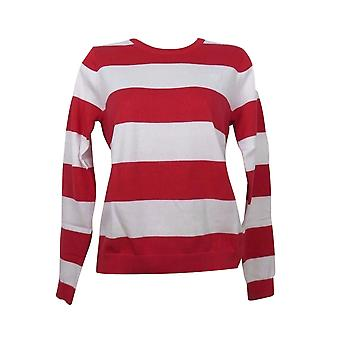 GANT Womens Premium Cotton Striped Jumper / Top  - Red and White
