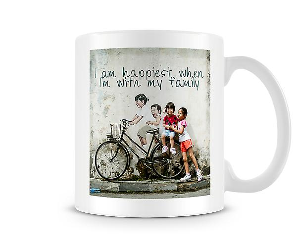 I Am Happiest When I'm With My Family Mug