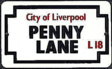 Penny Lane small enamel sign    (gg)