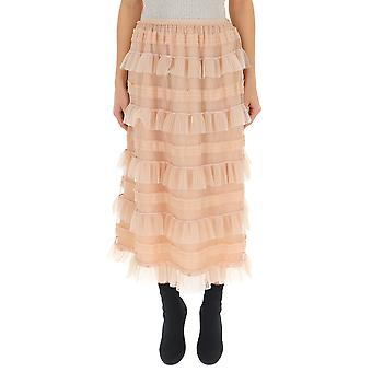 Red Valentino Nude Cotton Skirt
