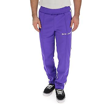 Palm Angels Purple Polyester Joggers