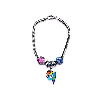 My Little Pony Rainbow Dash Stainless Steel Charm Bracelet