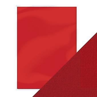 Craft Perfect by Tonic Studios A4 Weave Textured Card 10pk Cherry Red