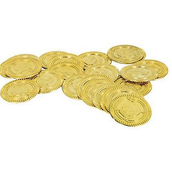 Unique Party Gold Plastic Coins (Pack Of 144)