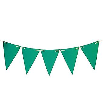 Gardenista® Green 40ft Water Resistant Fabric Bunting