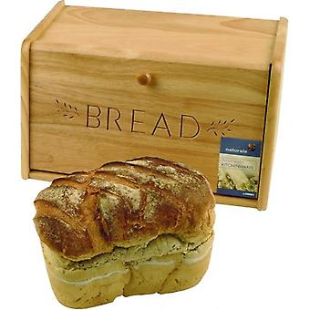 Bread Bin Wooden Ideal for Storage Cakes Snacks Pancakes Crepes Breakfast