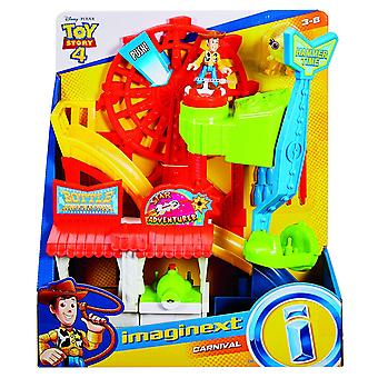 Imaginext Disney Toy Story Carnival Playset with Woody Figure