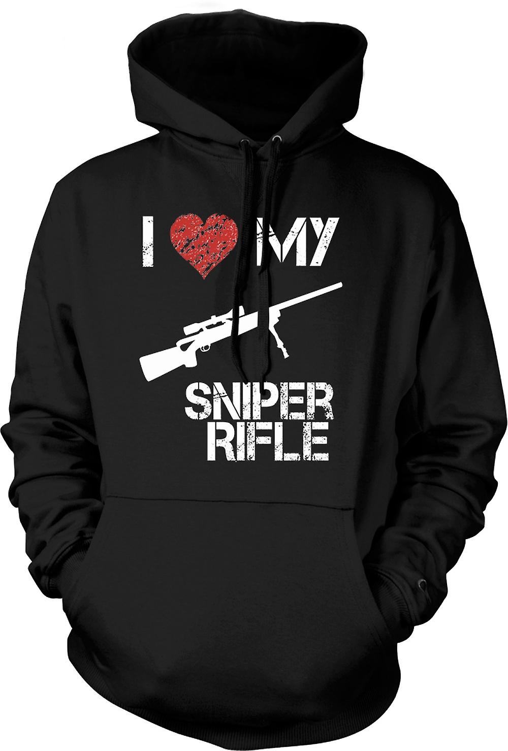 Mens Hoodie - I Love My Sniper Rifle