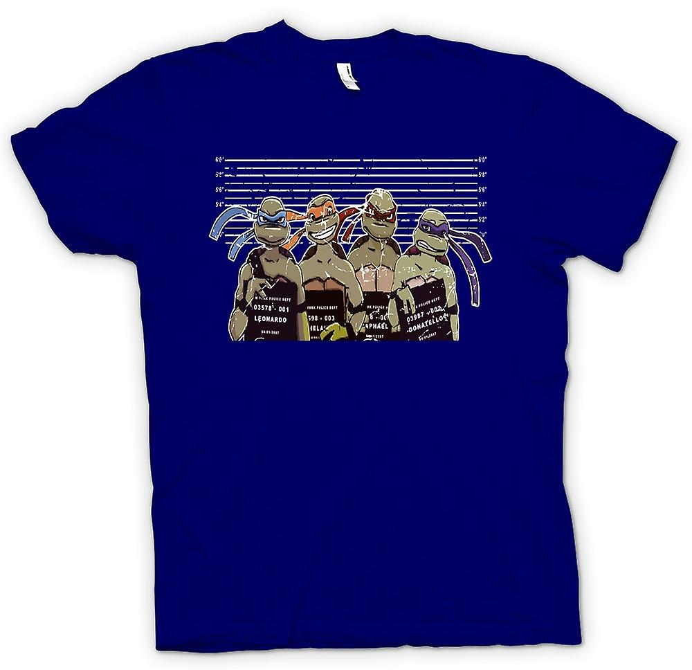 Herr T-shirt - Teenage Mutant Ninja Turtles polis linje upp