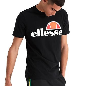 Ellesse Heritage Prado mens retro mode T-shirt tröja tee svart