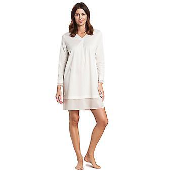 Feraud 3191073-11697 Femme Haute Classe Ivoire Off-White Cotton Sleep Shirt Nighty Nightshirt