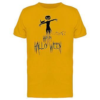 Yellow Happy Halloween  Tee Men's -Image by Shutterstock