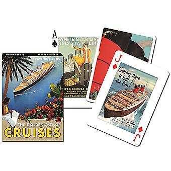 Golden Age of Cruises set of 52 (+ jokers) playing cards    (gib)