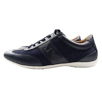 Armani Jeans Denim Trainers Black/Denim